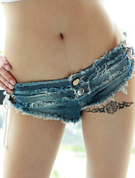 Women's Patchwork Low Rise Bandage Over Hip Fashion Shorts Pants,Sexy / Simple
