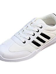 Da uomo-Sneakers-SportivoPiatto-Tulle-Nero Bianco Grigio