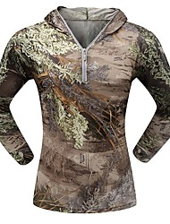 Outdoor Sports Breathable Quick Dry Camouflage Spring Long Sleeve Tshirt Camo Clothing Shirt for Hunting Fishing