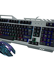High  Quality Metal Mechanical Wired USB  Game Keyboard & Mouse