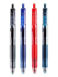 0.5mm Colored Refillable Ball Waterproof Leakproof Gel Pen With Stainless Steel Nib