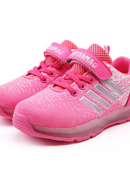 LED Light Up Shoes, Girl's Sneakers Spring / Fall Comfort PU / Tulle Athletic Flat Heel Magic Tape / Lace-up Pink Sneaker