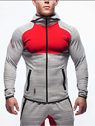 Men's Long Sleeve Running Tops Breathable Wearable Spring Summer Fall/Autumn Winter Sports WearExercise & Fitness Racing Leisure Sports