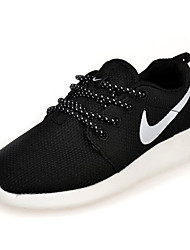 Men's Sneakers Spring / Fall Comfort / Flats Fabric / Tulle Athletic /  Black / Black and White Running
