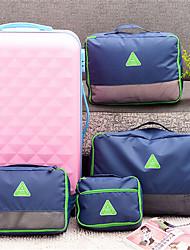nylon coreano multifuncional bolsa de viagem dobrável vestuário saco de quatro conjuntos