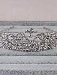 Femme Strass Casque-Mariage / Bureau & Carrière / Extérieur Tiare 1 Pièce Argent Rond One Size