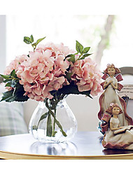 "1 Bunch 1 Une succursale Soie Hortensias Fleur de Table Fleurs artificielles Total Length:18.11"";Diameter:6.3"""