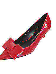 Damen-High Heels-Lässig-Lackleder-StöckelabsatzSchwarz Grau Fuchsia Rot
