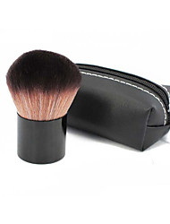 1 Foundation Brush Synthetic Hair Professional / Portable Wood Face