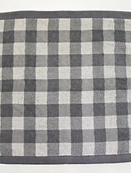 "1PC Full Cotton Wash Towel 11"" by 11"" Plaid Pattern Super Soft Strong Water Absorption Capacity"