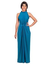 Women's Fashion Pluz Side Solid Bohemia Maxi Dress