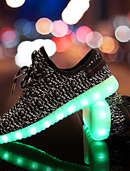 Girl's Sneakers Spring Fall Light Up Shoes Comfort Tulle Casual Flat Heel LED Black Blue Green Red Gray Walking