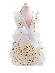 Chat Chien Robe Vêtements pour Chien Mode Nœud papillon Arc-en-ciel