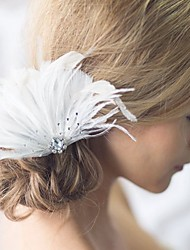 New Fascinator Hand Made Hair Accessories Wedding Bride Hair Jelwery Feather Hair Accessories Pins