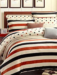 Super Soft Winter Thick Warm Flannel 4 Piece  Linen Quilt kit  Bedding Set