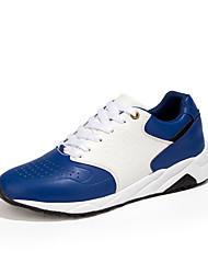 Herren-Sneaker-Lässig-PU-Flacher Absatz-Komfort-Schwarz / Blau / Rot