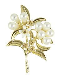 золотой цвет имитация жемчужина цветок броши