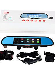 Ling Degrees HS995 Driving Recorder Dual Lens Mirror Navigation GPS HD Night Vision Electronic Dog