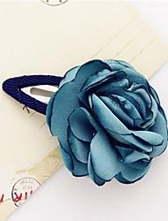 Women's Flower Girl's Fabric Flower Hair Clip