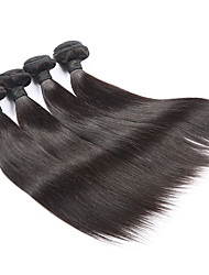 High Quality Brazilian Straight Hair Virgin Hair Human Hair Weave Natural Color mixed 4pcs/lot