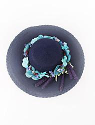 Mujer Sombrero para el sol Casual-Verano-Paja