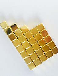Magnet Toys 50 5*5*5mm Magnet Toys Executive Toys Puzzle Cube DIY Toys Magnetic Balls Gold Education Toys For Gift