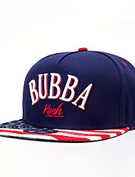 New Fashion Men Women Letter BUBBA Embroidery Street Dance Blue Baseball Caps