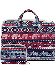 "Handbag for Macbook 12"" Macbook Air 11""/13"" MacBook Pro 13""/15"" Bohemian Style Textile Material Retro Baby Elephant Canvas Fabric Laptop Handbag"