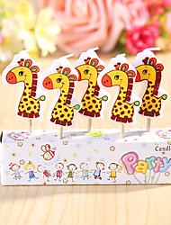 partido velas de aniversário decoração happybirthday definido (5 peças) girafa bonito pequena vela