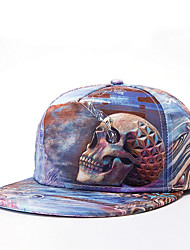 Hip Hop Women Men Skull Abstract Print Dance Caps Adjustable Patchwork Baseball Cap