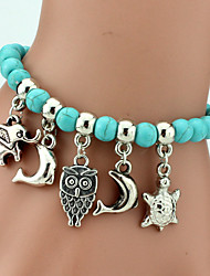 Strand Bracelets Natural Stone Animals Charms Daily / Casual Jewelry Gift