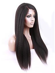 7a volle Spitze-Menschenhaarperücken reines peruanisches Haar verworren Perücken gerade Menschenhaarspitzeperücken für schwarze Frauen