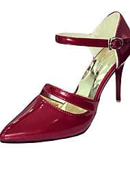 Femme Chaussures à Talons Polyuréthane Automne Soirée & Evénement Boucle Talon Aiguille Argent Rouge Rose 10 à 12 cm