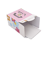 Pink Color Packaging & Shipping 6 Inch Birthday Cake Packaging Box A Pack of Three