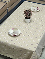 Pastoral Thick Cotton Fringed Table Cloth Side Table Cloth Refrigerator Towel with Snow Pattern (140 * 140cm)