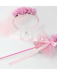 Women's Resin Headpiece-Wedding Wreaths 1 Piece Pink