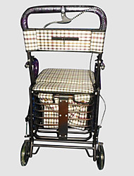 Cart with The Elderly Sit Portable Collapsible Shopping Cart Supermarket Trolley Xiang Xin