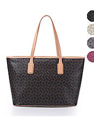 AOVO® Women PVC Shoulder Bag Brown / Gray / Fuchsia / Almond-1028