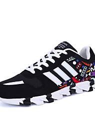 Men's Sneakers Spring / Fall Comfort Fabric Casual Flat Heel  Black / Blue Walking