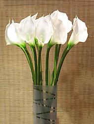 1 1 Ramo Gel Silica / Couro Ecológico Lírios Flor de Mesa Flores artificiais 68cm