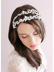 Women's Rhinestone / Alloy Headpiece-Wedding / Special Occasion Tiaras / Headbands / Flowers / Wreaths 1 Piece Clear