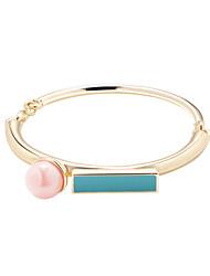 Bracelet Manchettes Bracelets Alliage Forme de Cercle Mode Quotidien Bijoux Cadeau Doré,1pc