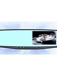 gravador de condução espelho Ultra HD de 4,3 polegadas antes e depois da gravação de casal