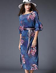 les femmes maxlindy de sortir / soirée / cocktail / millésime de vacances / street chic sophistiqué robe / floral gaine