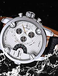 Мужской Наручные часы Кварцевый Календарь Кожа Группа С подвесками Черный марка