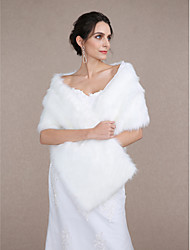 Wedding  Wraps / Fur Accessories Shawls Sleeveless Faux Fur / Feather/Fur Ivory Wedding / Party/Evening
