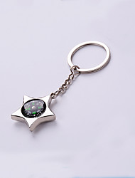 Aluminum Alloy Tire Compass Key Chain Accessories Metal Car Key Ring