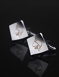 Gift Groomsman Personalized Cufflinks - Hearts