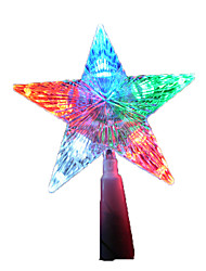 1PC Led Random Color Christmas Present Interior Decoration Five-Pointed Star Night Light