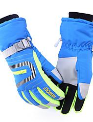 Ski-Handschuhe / Fahrradhandschuhe Winterhandschuhe Alles warm halten Skifahren / Snowboarding Grün / Rot / Blau  Leinwand S / M / L / XL